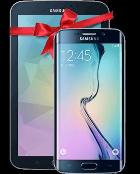 Samsung Galaxy S6 edge mit Vertrag und gratis Tablet